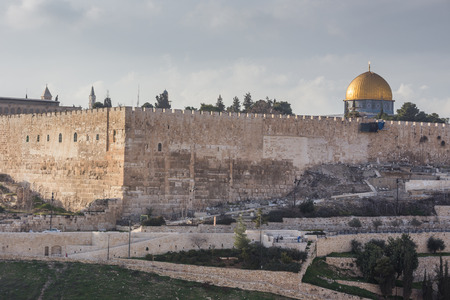 kotel: View of Jerusalem old city. Israel Stock Photo