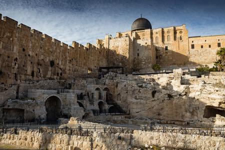 View of Jerusalem old city. Israel Stok Fotoğraf - 53668167