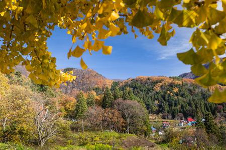 Iiyama paesaggio della città, Nagano, Giappone Archivio Fotografico - 53672321