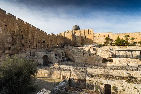 View of Jerusalem old city. Israel Stok Fotoğraf - 53670053
