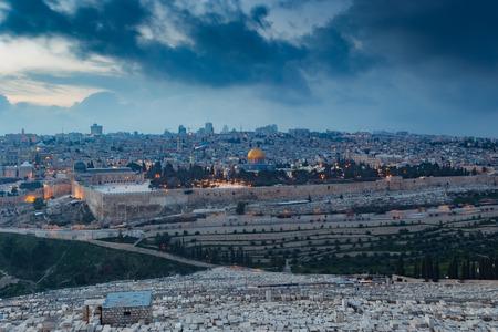 View of Jerusalem old city. Israel Archivio Fotografico