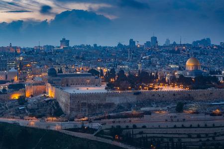 Widok starego miasta Jerozolimy. Izrael