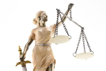 Justice Themis grec, le latin justitia les yeux band�s avec des �chelles, �p�e