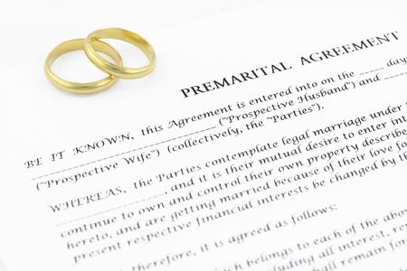 Contrat de mariage pr�nuptial Banque d'images
