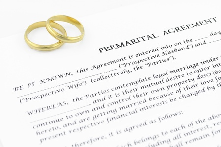 Prenuptial   premarital   agreement