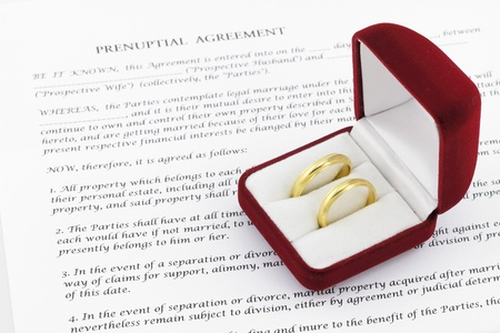 human settlement: Prenuptial   premarital   agreement