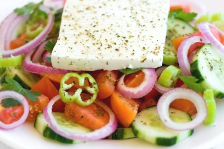Traditional Greek salad closeup Stock Photo - 17858914