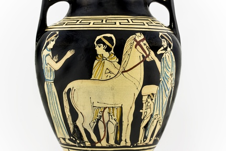 Ancient greek amphora replica photo