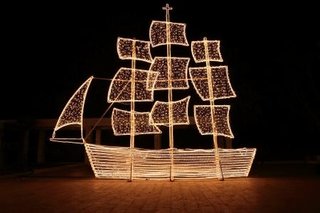 Traditional greek christmas ship Standard-Bild