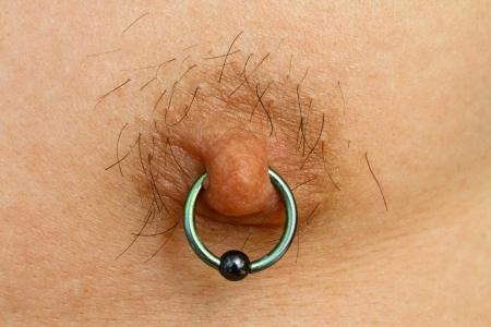 Nipple piercing Stock Photo - 17859025
