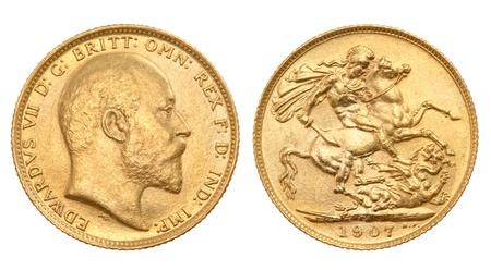 British gold sovereign Stock Photo