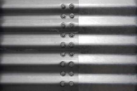 corrugated iron: silo corrugated steel sheet background