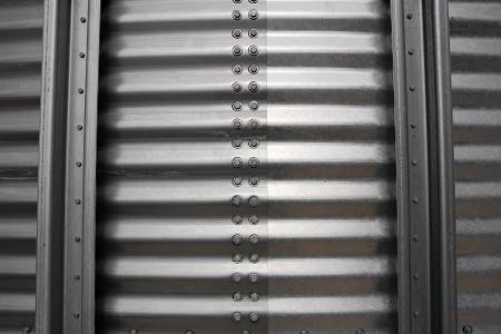 corrugated: silo corrugated steel sheet background