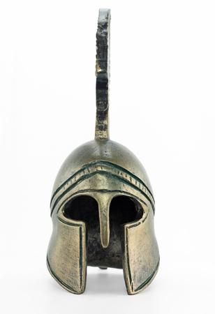 spartano: Antico replica casco greco Archivio Fotografico