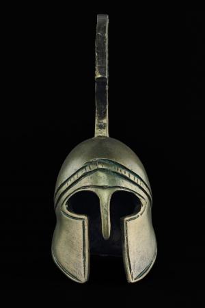 past civilization: Ancient greek helmet replica