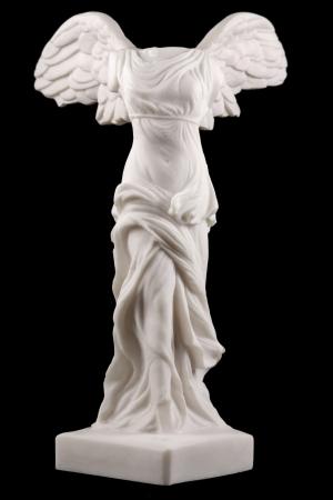 Die Siegesgöttin Nike von Samothrake wurde um 190 v. Chr. angelegt und wurde 1863 auf der Insel Samothrake in Griechenland entdeckt Standard-Bild - 17859050
