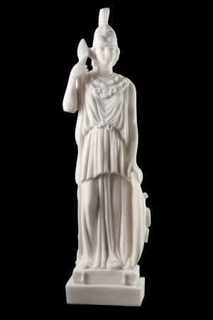 Athene, die griechische Göttin der Weisheit, wurde Kunst, Handwerk, Strategie und Krieg gab sie ihren Namen in Athen, und der berühmte Parthenon in ihrer Ehre zu bauen Standard-Bild - 17859046