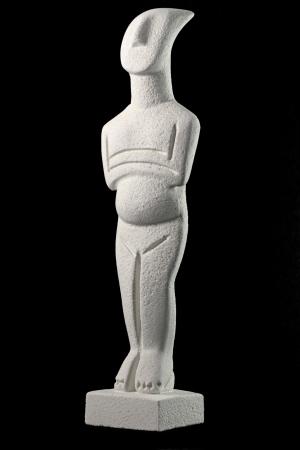 cycladic: Figurina cicladica, campione della civilt� cicladica che si � sviluppato a partire da circa 3200 - 2000 aC, nel gruppo delle isole Cicladi, Mar Egeo, Grecia