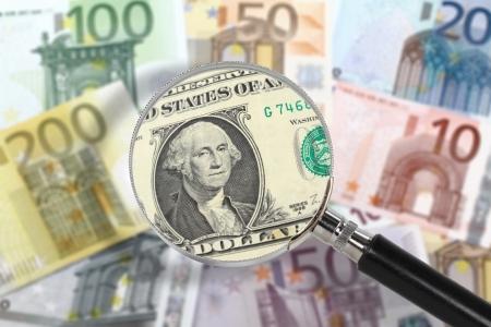 in custody: EU economy under US custody  Financial crisis concept
