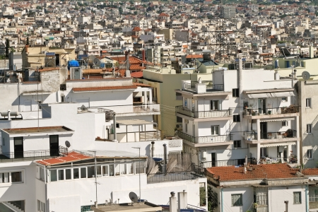 population growth: Densely populated area of Thessaloniki - Greece Stock Photo