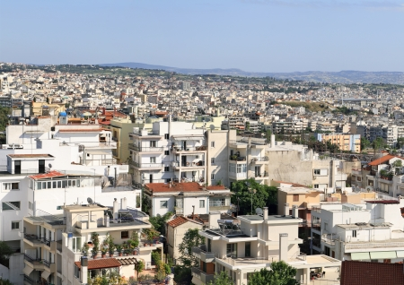 Densely populated area of Thessaloniki - Greece Stock Photo