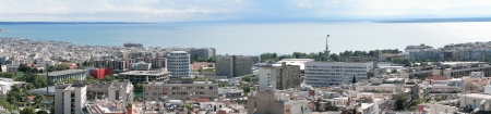 thessaloniki: Salonicco panorama zona universitaria