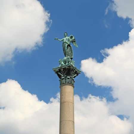 Statue of Concordia, at Schlossplatz - Stuttgart Stock Photo