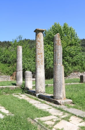 thassos: Ruins of ancient temple in Thassos island - Greece