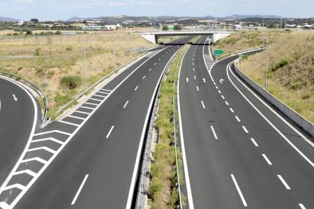 Interchange on egnatia motorway in Greece