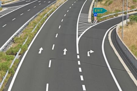 �change sur autoroute Egnatia en Gr�ce Banque d'images