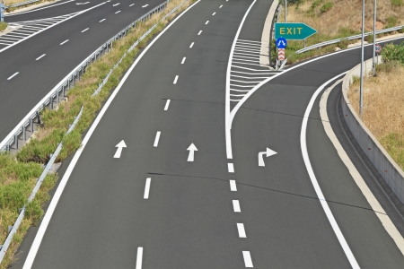 Knooppunt op de snelweg Egnatia in Griekenland Stockfoto