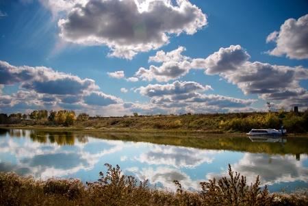 streifzug: Herbstlandschaft in Sibirien Lizenzfreie Bilder