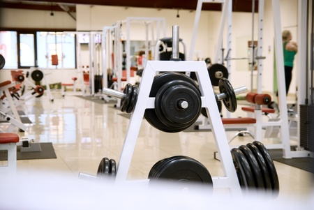 weightlifting equipment: gym and stationary equipment for training Editorial