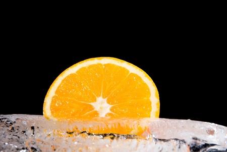 gustatory: Orange on a black background.