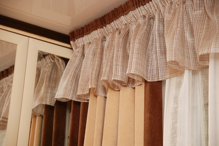 Picture of luxuus curtains at home. Stock Photo - 13403230