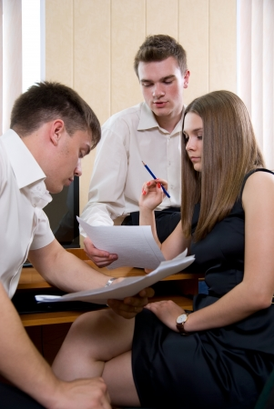 Business meeting of young people at office. Stock Photo - 14154854