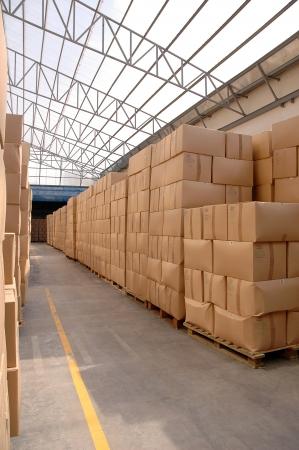 Modern warehouse with cardboard cartons ready to ship Stock Photo - 15885866