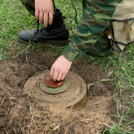Minesweeper neutralizes mine.