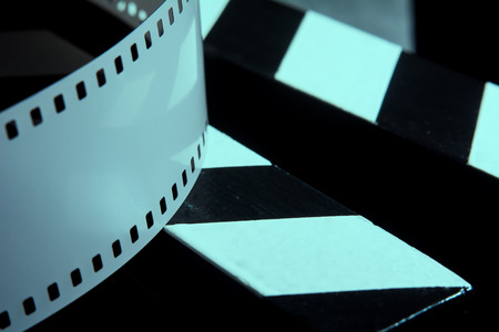 cine: Photographic film. Movie clapper for shooting Films.
