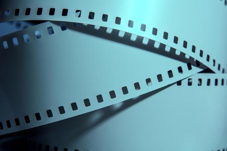 negative film: Three strips of negative films. Photographic film. Stock Photo
