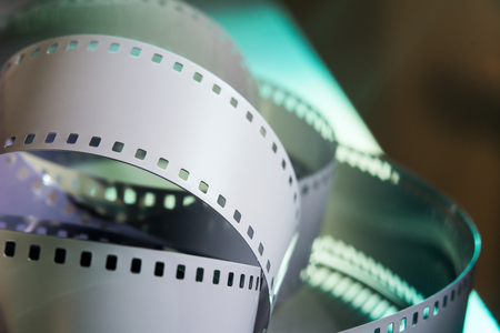 35 mm: Negative 35 mm film. Spun photographic film.