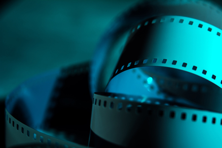 35 mm: Negative 35 mm film. Photographic film. Background from films Stock Photo