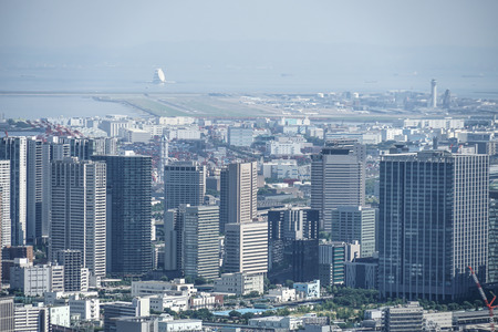 Urban landscape from the Roppongi Hills Observation Deck (Haneda Airport)