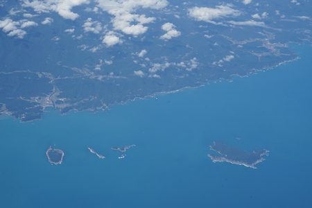 Aerial of the Japanese archipelago
