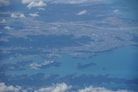 Japanese archipelago Aerial view of (Tokushima) 版權商用圖片