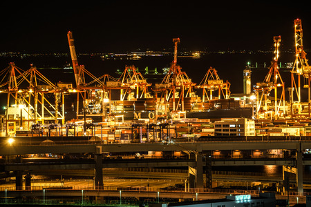 Yokohama Port of night view Editorial