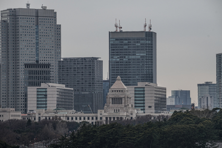 Parliament and Tokyo of buildings Stock Photo
