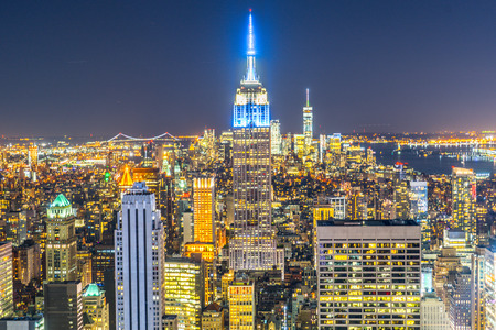 Empire State Building (taken from the Rockefeller Center Observation Deck) Stock Photo - 118729997