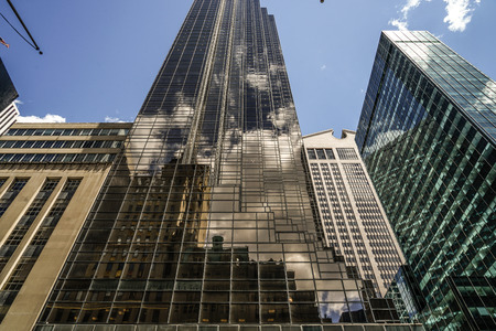 Trump Tower and blue sky (New York)
