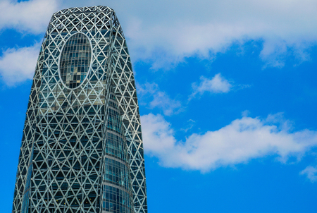 Blue sky and Cocoon Tower Stock Photo - 118673535